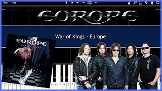 War of Kings - Europe (Synthesia) [Tutorial] [Instrumental Video] [Download]