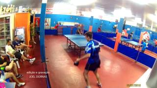 2016 - Wesley Rosa vs Charles Fírbida - Tênis de Mesa