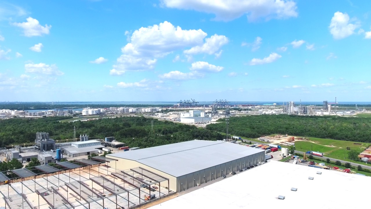 Aerial video tour of warehouse