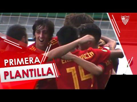 Bryan Gil disputa 84 minutos en el empate de la selección española Sub-19 ante Portugal