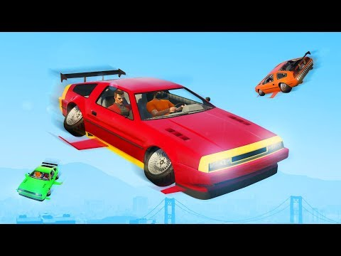 BACK TO THE FUTURE FLYING CAR!? (GTA 5 DLC)