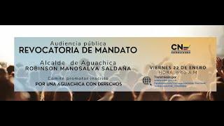 Audiencia pública de tramite de solicitud de revocatoria de mandato Aguachica-Cesar