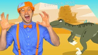 Blippi Volcano and Dinosaur Song | Science for Children