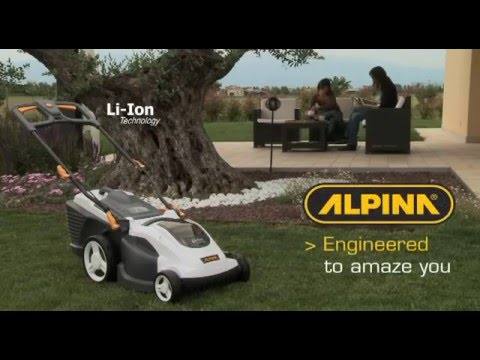 ALPINA battery lawn mower