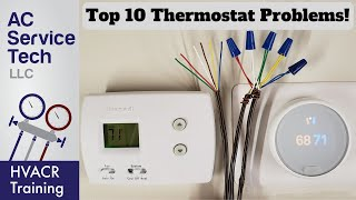 Top 10 Thermostat Related Problems! Heat and AC!