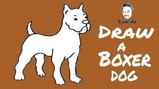 How To Draw A Boxer Dog Easy Step By Step ฟร ว ด โอออนไลน ด