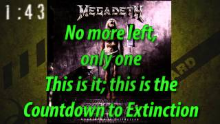 Megadeth Countdown to Extinction with Lyrics MetalMonSt4r Video
