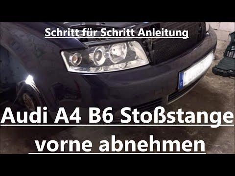 Audi A4 B6 Stoßstange vorne ausbauen / abbauen / demontieren