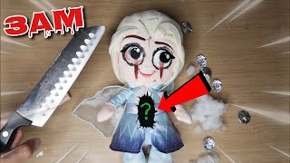 CUTTING OPEN ELSA.EXE FROM FROZEN 2 DOLL AT 3AM!! *OMG WHAT'S INSIDE*