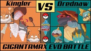 Drednaw  - (Pokémon) - KINGLER vs DREDNAW - Gigantamax Evo Battle (Pokémon Sword/Shield)