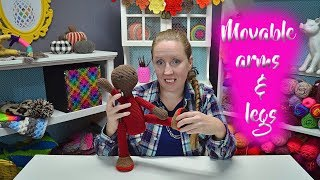 How To Attach Movable Arms And Legs On Crochet Dolls