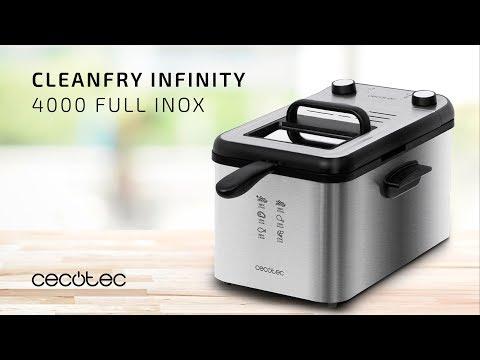 Freidora CleanFry Infinity 4000 Cecotec Negra