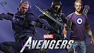 Marvels Avengers Game - Hawkeye Alternate Suit REVEALED, Ronin Suit And DLC Roadmap Teased?!