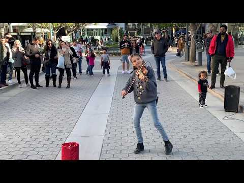 Marshmello ft. Bastille - Happier (Karolina Protsenko) - Violin Street Performance (видео)