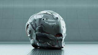 escupindo um capacete