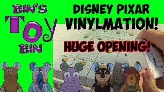 16 Disney Pixar Mystery Blind Boxes Vinylmation Opening Toy Story, Monsters, Nemo! By Bin's Toy Bin
