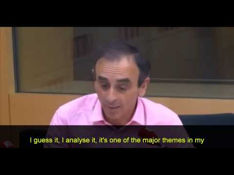 FRENCH TV host Eric Zemmour talks about the coming civil ...