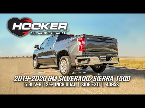 Hooker BlackHeart 2.5in, Dual, Side-Exit Exhaust for 2019-2020 Silverado/Sierra 5.3L Pickups