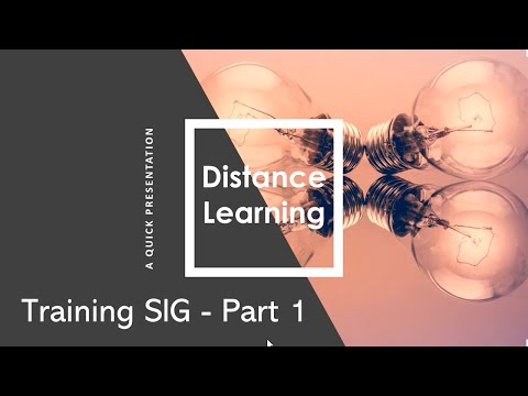 Distance Learning for the ERP Training SIG – Part 1 - YouTube