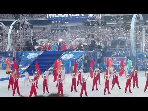 День строителя - 2018. Большой концерт в Лужниках. Танец строителей. Песня про Москву. Часть 1