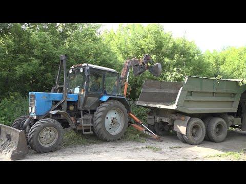 В Новомосковске продолжается ликвидация несанкционированных свалок