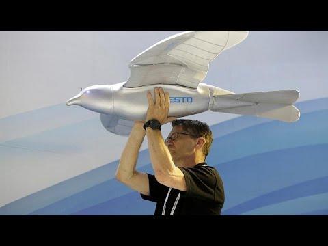 العرب اليوم - شاهد: روبوت طائر يحلق فوق رؤوس زوار معرض الصين