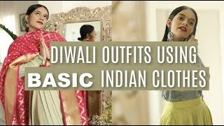 Diwali Outfits From BASIC Indian Clothes!   Komal Pandey