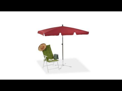 Rechteckiger Sonnenschirm für den Garten