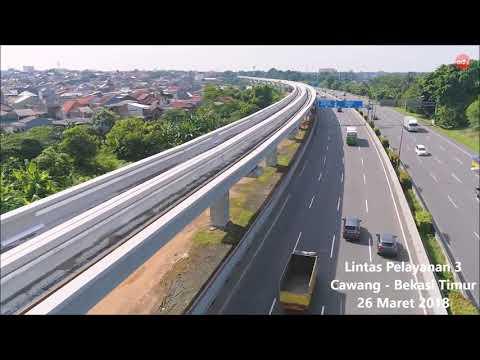 Progress Kereta Api Ringan (LRT) Jabodebek per Maret 2018