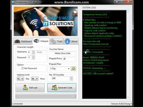 mikrotik hotspot code generator via vb6 - смотреть онлайн на