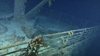"""Titanic explorers have been accused of """"piracy"""" as the line deepens on the plane to seize treasures hidden by the wreck"""