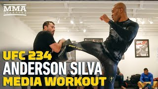 UFC 234: Anderson Silva Open Workout In West Hollywood (Complete)   MMA Fighting