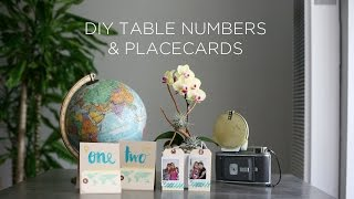 DIY Photo Placecards And Table Numbers | DIY Wedding