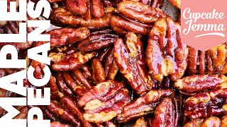Oven-Baked Candied Maple Pecans - The Tastiest Nuts Ever! | Bake With Sally | Cupcake Jemma
