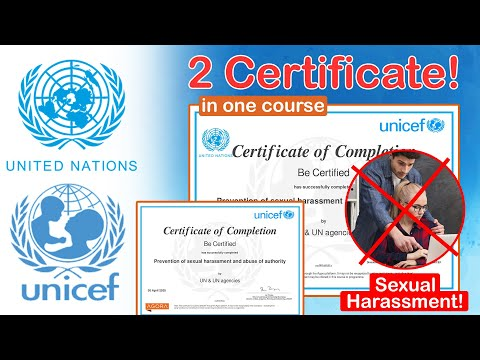 UNICEF Certification Course   Prevention of Sexual Harassment and ...