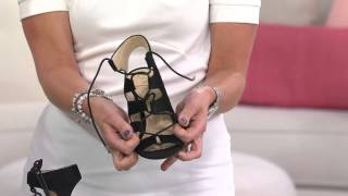 Sole Society Lace-up Open-toe Pumps - Rosalie with Stacey Stauffer
