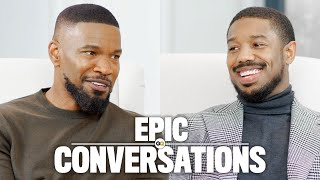Michael B. Jordan and Jamie Foxx Have an Epic Conversation | GQ