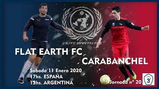 """R.F.F.M. - Jornada 20 - Tercera División Nacional (Grupo 7): Flat Earth F.C. 1-1 Real C.D. Carabanchel """"A""""."""