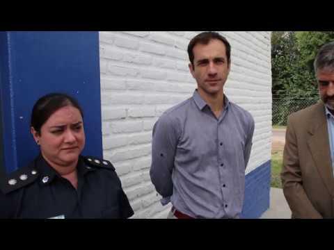 Petrecca entregó insumos al Destacamento Policial de Villa del Parque