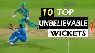 Unbelievable Wickets In Cricket | Top 10 Amazing Wickets In Cricket History