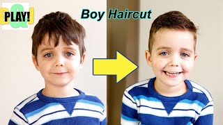 How To Do An EASY Boys Haircut: Mom Cuts Hair At HOME!