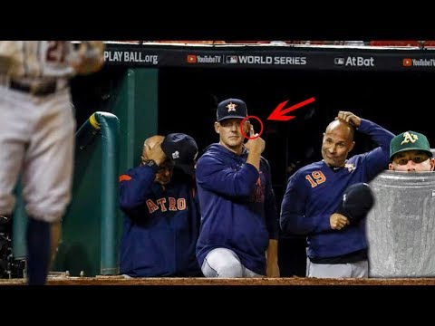THE ASTROS WERE CAUGHT CHEATING