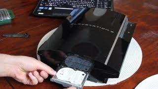 Festplatte tauschen Sony PS3 * Tutorial*
