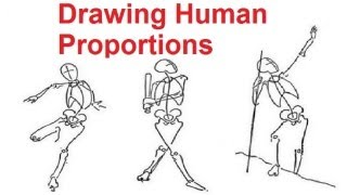 Figure Drawing Lessons 2/8 - Drawing Human Proportions Using Stick Figures