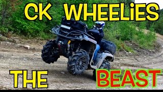 CKs First Wheelie Cubbee Goes Inside A Giant Culvert Another Awesome ATV Adventure Ride