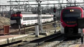 preview picture of video 'De trenes en F. Mora, Atocha Cercanías y Villaverde Bajo'