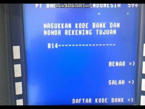 Cara transfer via ATM Bri ke Bca