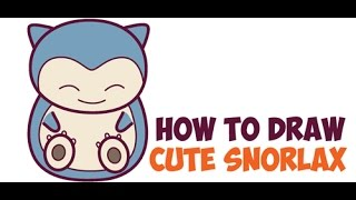 How To Draw Baby Snorlax Free Online Videos Best Movies Tv Shows