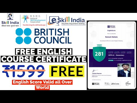 Free Online Course Certificate Test from British Council, UK | How to ...