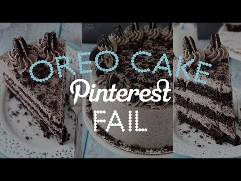 Video Pinterest Oreo Cake FAIL!